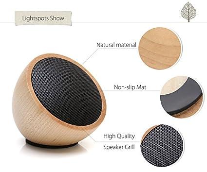 techase madera altavoces Bluetooth inalámbrico Mini portátil reproductor de mp3 puerto til para ordenador Tablet cena Bass sonido caixa de som - arce: ...