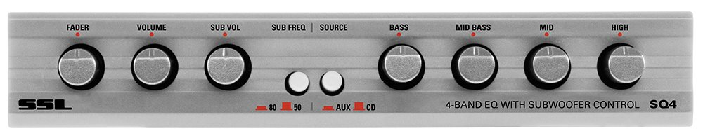 Sound Storm SQ4 4-Band Pre-Amp Car Audio Equalizer With Front / Rear and Subwoofer Outputs