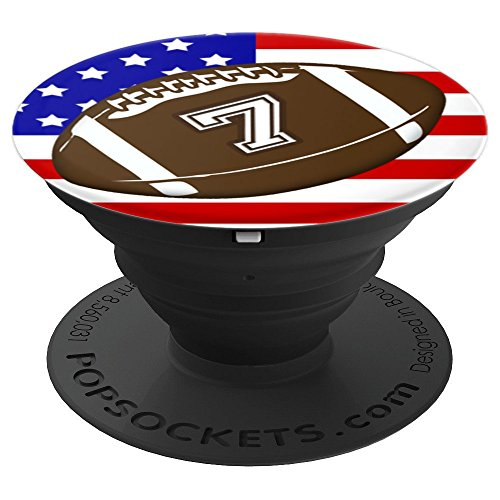(American Football Player #7 Back No 7 Ball Pop Socket Gift - PopSockets Grip and Stand for Phones and Tablets)