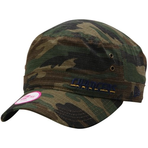 San Diego Chargers Caps: Los Angeles Chargers Women's Camo Cadet Hat
