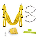 Yoga Swing – Yoga Hammock for Yoga Exercise – Green/Yellow/Orange Review