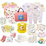 Papa Care Mixed Baby Girl Bodysuit Gift Set Includes 26 Pieces