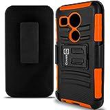 Nexus 5X Case, CoverON® [Explorer Series] Tough Hybrid Armor Belt Clip Phone Cover For LG Google Nexus 5X Holster Case - Neon Orange & Black