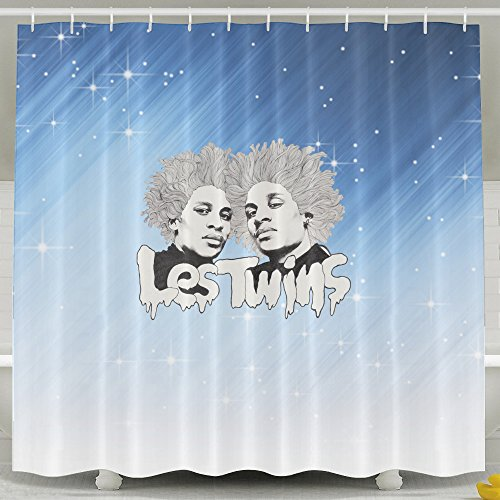 (Memoy Les Poster Twins Mildew Resistant Bathroom Shower Curtain For Home Traval Hotel With Hooks)