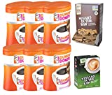 6-Pack Dunkin' Donuts Original Blend Ground Coffee, Medium Roast, 30-Ounce Canisters, Plus 1 Box Each Stevia & Sugar in the Raw