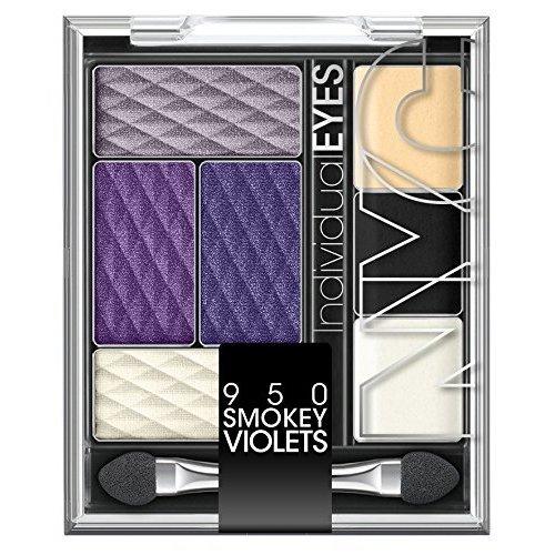 N.Y.C. New York Color Individual Eyes Eyeshadow Palette, Smokey Violets, 0.126 Ounce