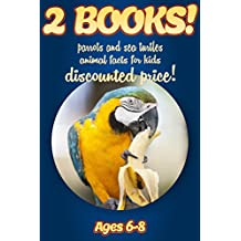2 Bundled Books: Facts About Parrots & Sea Turtles For Kids Ages 6-8: Amazing Animal Facts And Pictures: Clouducated Blue Series Nonfiction For Kids