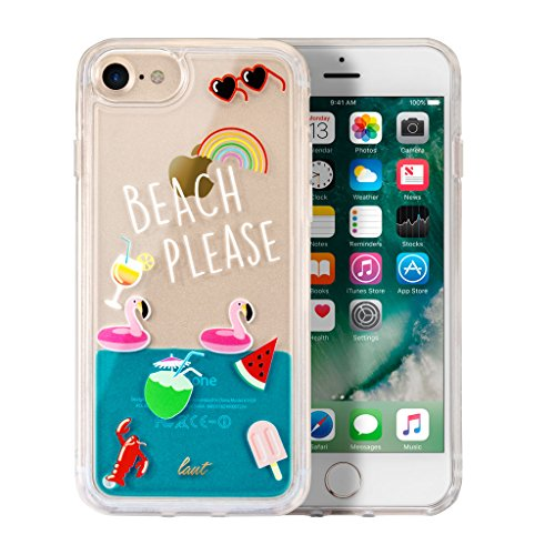 "LAUT - POP BEACH PLEASE case für iPhone 8 / iPhone 7 / iPhone 6s/6 mit Anti-scratch mehrlagiger Schutz |mit (""Meer"" ) Flüssigkeit gefüllt (Beach Please)"
