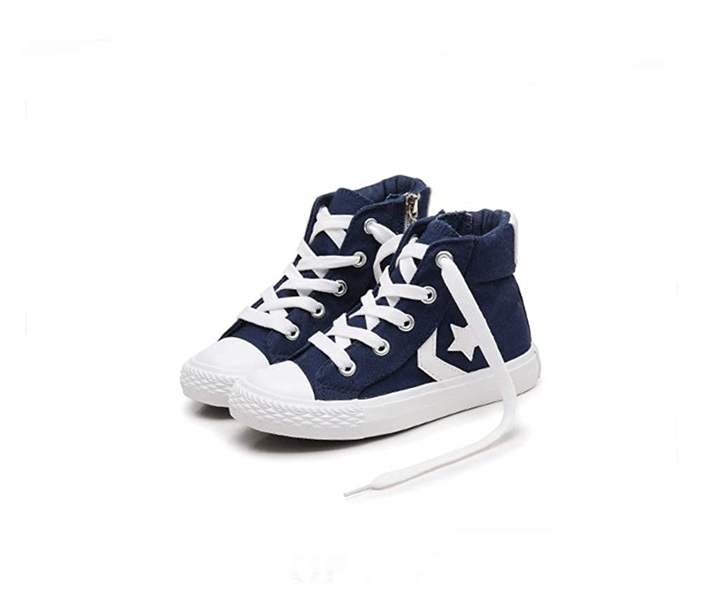 Blue-25//8.5 M US Toddler Boys Girls Kids Canvas Sneakers Casual School Flat Shoes