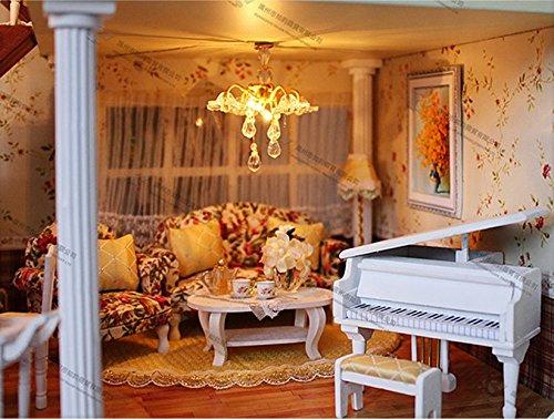 Casa delle bambole in miniatura misura grande con mobili