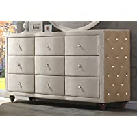 Meridian Furniture Diamond Velvet Covered Dresser