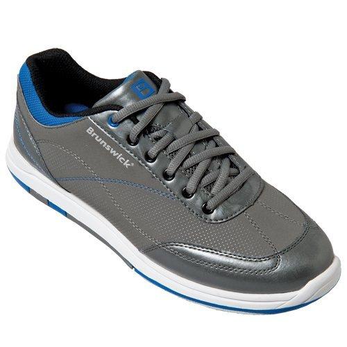 Brunswick Men's Titan Bowling Shoes, Char/Royal, 10.5