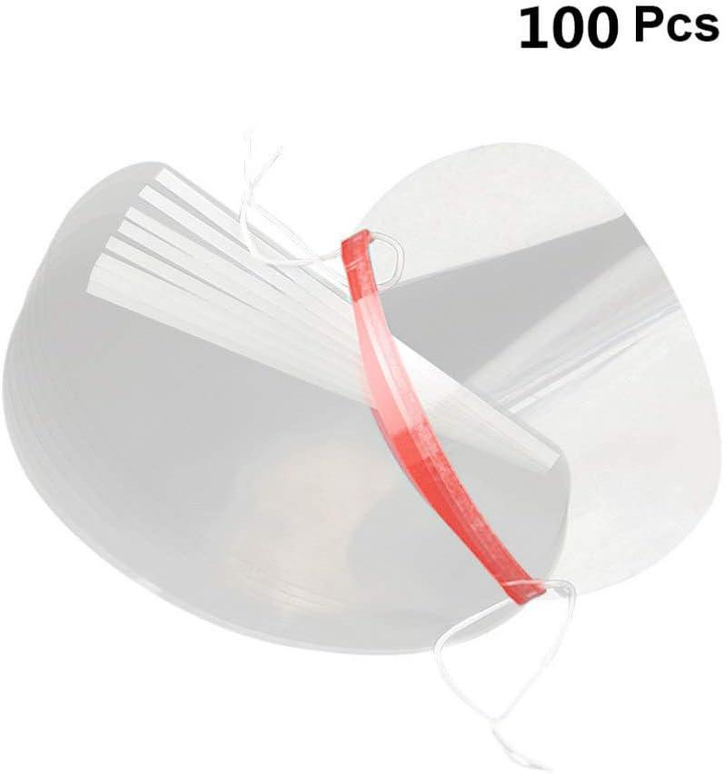 protecci/ón de la Cara Completa protecci/ón de los Ojos Oficina Cocina para Exteriores de pl/ástico Transparente Desechables Minkissy 100 m/áscaras de Seguridad antivaho Salpicaduras
