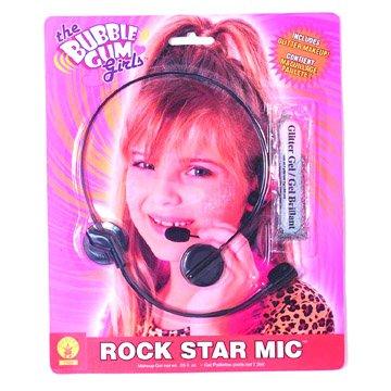 [The Bubble Gum Girls Rock Star Mic] (Kids Rock Star Costumes)