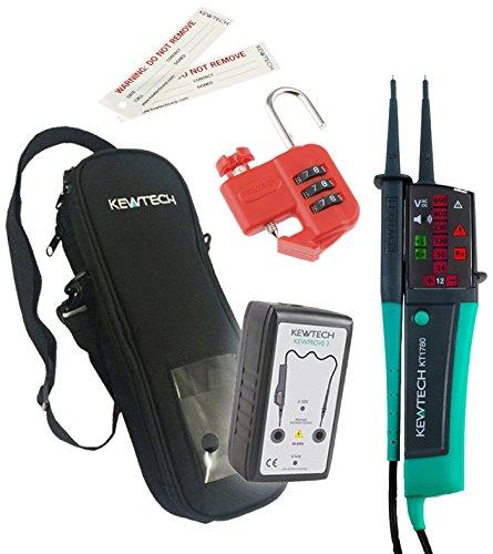 Kewtech KEWIS02 Safe Isolation Kit, Green/Black, Set of 4 Pieces