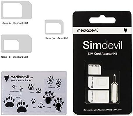 MediaDevil Simdevil 3-in-1 Adaptador de Tarjeta SIM (Nano/Micro ...