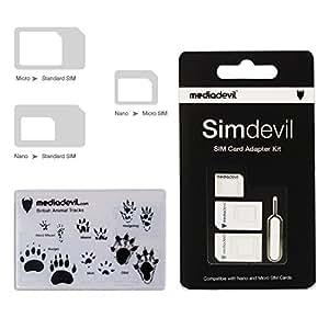 Amazon.com: MediaDevil Simdevil 3-in-1 Adaptador de tarjeta ...