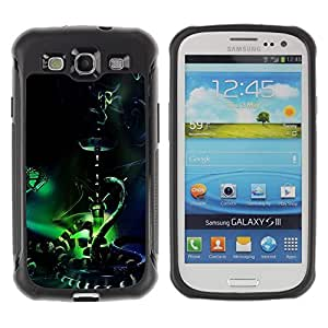 """Pulsar iFace Series Tpu silicona Carcasa Funda Case para Samsung Galaxy S3 III I9300 , Orient cuento de hadas de la serpiente de la mariposa Bong Nargile"""""""