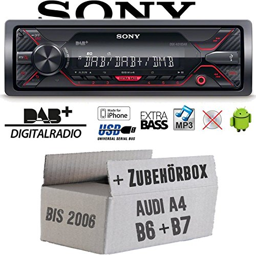 Audi A4 B6 B7 - Autoradio Radio Sony DSX-A310DAB - DAB+ | MP3/USB - Einbauzubehö r - EINBAUSET JUST SOUND best choice for caraudio AuA4B67_DSX-A310DAB