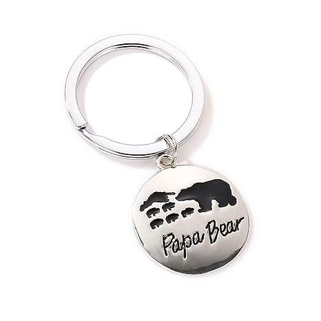Madlst mamá oso papá oso llavero personalizado mamá oso ...