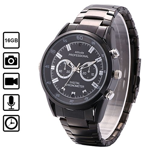 Miebul 16GB Wrist Smart Watch Camera HD 1080P Infrared Night Vision High-end Camera by Miebul
