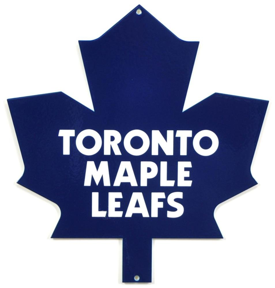 Authentic Street Signs NHL Hockey 12 Inch Steel Lasercut College Team Sports Sign for Dorm Rooms, Man Caves, Garages (Toronto Maple Leafs, Around 12 Inches)