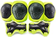 Kids Knee Pads Elbow Pads Guards for Skating Cycling Bike Rollerblading Scooter Sport Protective Gear Set Knee