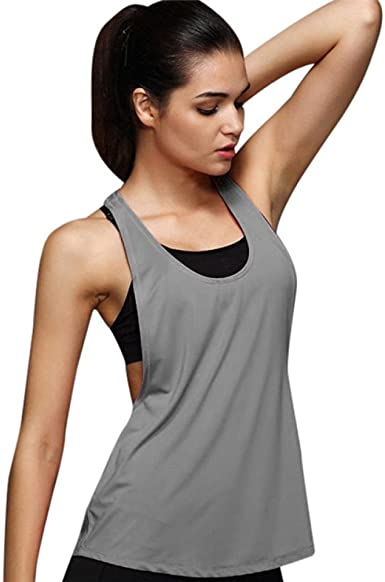Womens Sleeveless Camisole Tank Top Ladies Summer Letter Printed Workout Sport Casual Slim Vest Blouse Yoga Tops