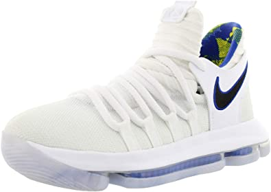 Aplastar vela Alerta  Amazon.com | Nike Zoom KD10 LMTD NBA Grade School Basketball Shoes (3.5 M  US Big Kid, White/Game Royal/University Gold) | Basketball