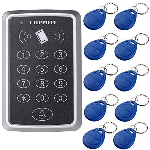 Rfid Access Control - UHPPOTE 125KHz Single Door Proximity RFID Card Access Control Keypad Include EM4100 ID Keyfobs