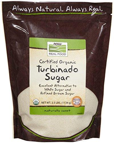 NOW Foods Organic Turbinado Sugar, 2.5 lbs (Health Turbinado Sugar)