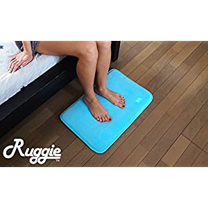 Ruggie Alarm Clock - The Original Rug Carpet Alarm Clock - Digital Display, Battery Operated, Nature Sounds - Advance Design for Modern Home, Kids, Teens, Girls, Guys and Heavy Sleepers (Blue)
