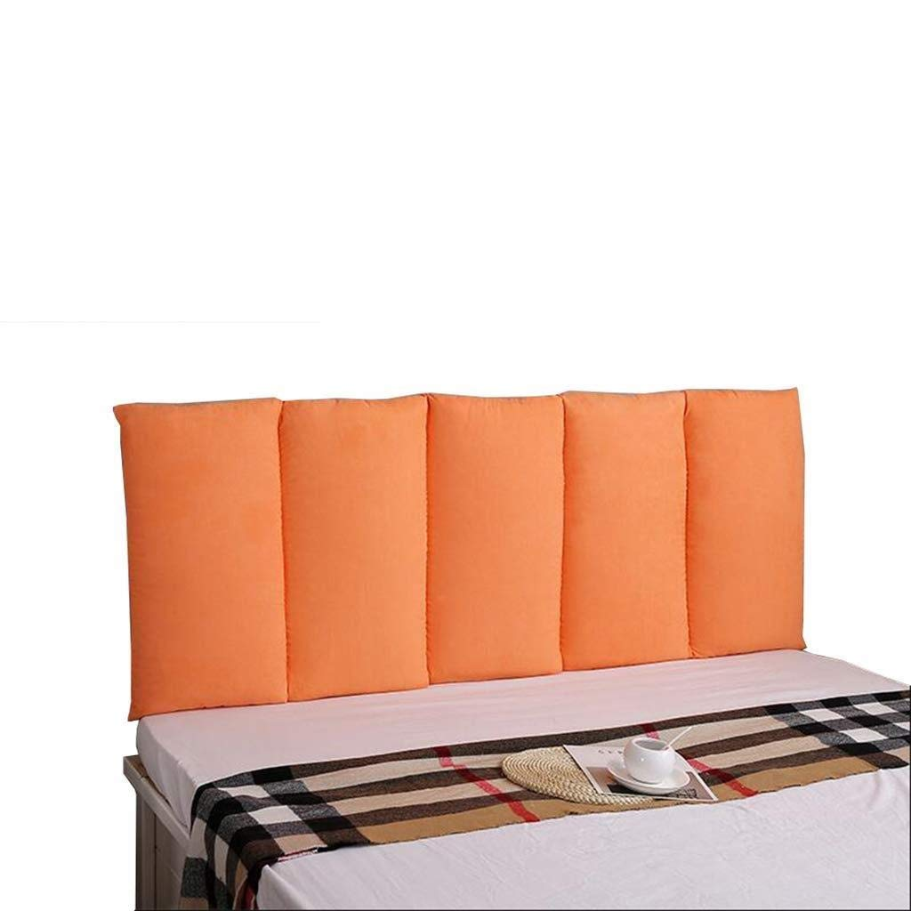 YJLGRYF Headboard Cushion Tatami Bed Head Cushions Direct Against The Wall Anti-Collision Soft Bag Double No Bed Head Cushions Washable Fabric Backrest,4 Colors&8 Sizes Lumbar pad for Office Bed sof