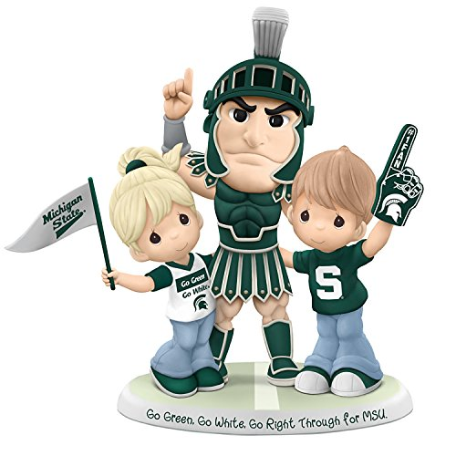(Michigan State Spartans Precious Moments Porcelain Figurine:by The Hamilton Collection)