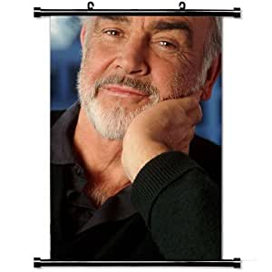 Home Decor Designer Poster with Sean Connery Actor Celebrity Gray haired Beard Mustache Cafe Hollywood Wall Scroll Poster Fabric Painting 23.6 X 35.4 Inch (60cm X 90 cm)