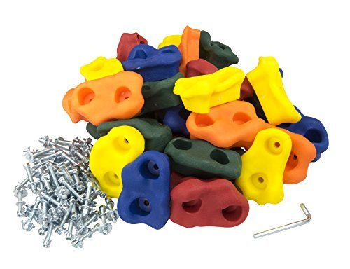Squirrel Products 30 Large Kids Rock Climbing Holds - with Mounting Hardware for up to 1'' Installation by Squirrel Products