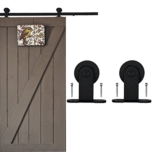 WINSOON Ship from USA Modern Barn Single Door Hardware Sliding Barn Style Top Mount Roller Track Closet Kit (16FT) by WINSOON
