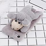 AXRXMA For iPhone 6 & 6s Fashion Plush Lovely Sheep Doll Toy Protective Back Cover Case For iPhone 6 & 6s