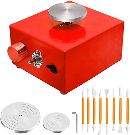 12V Mini Electric Pottery Wheel Machine Small Pottery Forming Machine with Tray