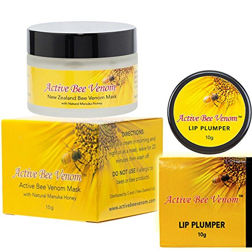 - Bee Venom Face Cream with Manuka Honey and Bee Venom Lip Plumper Balm COMBO
