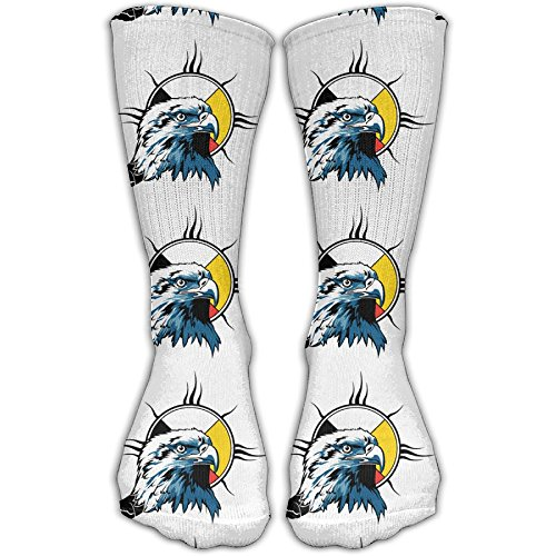 Unisex Eagle Funny High Athletic Stockings Long Socks Sports Outdoor One Size 30cm For Men Women (Eagles Sports Sc)