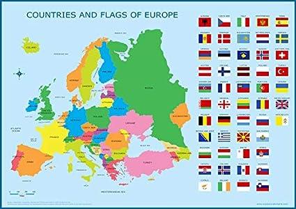 Carte De Leurope Jeux Educatifs.La Sagesse Media Europe Et Drapeaux Carte Pour Enfants Tableau
