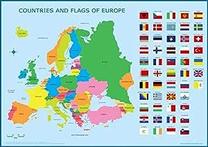 Wisdom Media Europe & Flags Map - Póster Educativo para niños ...