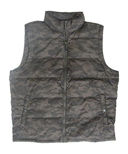 32 Degrees Heat Weatherproof Men's Down Packable Vest With Storage Bag, Dark Camouflage, Large (Camouflage Vest)
