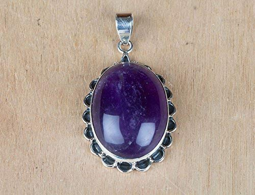 Handmadejewelry- Amethyst Gemstone Pendant | 925 Sterling Silver | Handmade & Authentic | Classic Elegance Design Collection | Leo | Unique Pattern | Pear Shape | Perfect Gift for loved ones