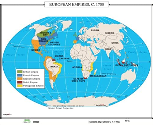 Amazon.com: European Empires, 1700 (World History Wall Maps ...