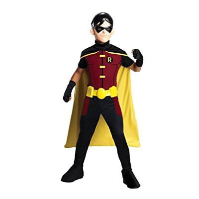 Rubie's Costume Young Justice Robin Child Costume, Large: Toys & Games