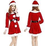 SPJ-A Women's Santa Claus Cosplay Christmas Fancy Dress Costumes