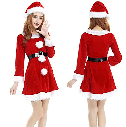 [SPJ: Women's Santa Claus Cosplay Christmas Fancy Dress Costumes (Type A)] (Pirate Coat For Sale)