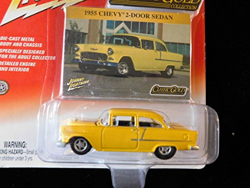 1955 Chevy 2-Door Sedan (yellow) Classic Gold Collection Edition 1:64 scale die-cast by Johnny Lightning ()